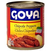 Chiles chipotles adobados Goya 198 gr
