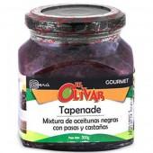 Tapenade olivada con aceitunas negras- pasas- castañas El Olivar 300 gr