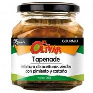 Tapenade olivada con aceitunas verdes-pimiento- castañas El Olivar 300 gr